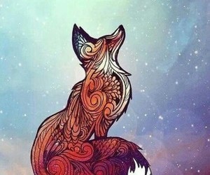 fox, galaxy, and art image