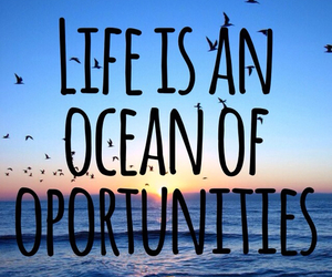 life, ocean, and quote image