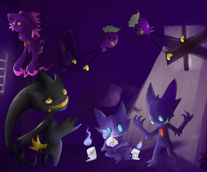 purple and pokemon image