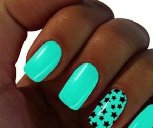 nails, stars, and cool image