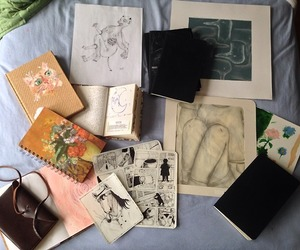 diary, journal, and pale image