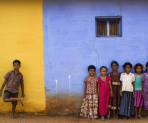 colorful, kids, and india image