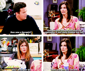chandler bing, rachel green, and f r i e n d s image