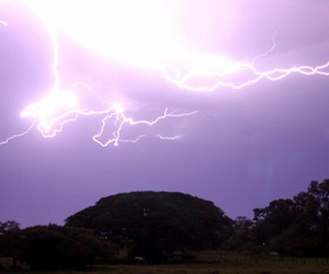 sky, lightning, and purple image