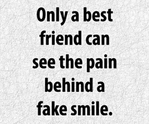 best friend, fake smile, and only image