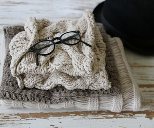 fashion, glasses, and sweater image