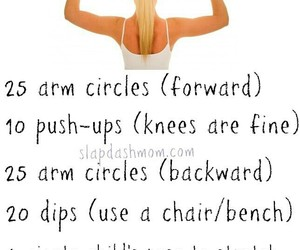 arms, workout, and fittnes image