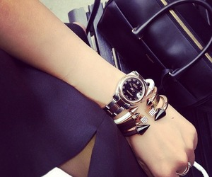 bag, black on black, and jewelry image