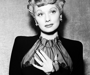 Lucille Ball, vintage, and black and white image