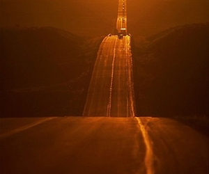 beautiful, road, and sunset image