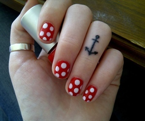nails, tattoo, and anchor image