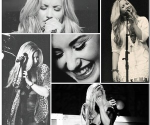 black and white, demi lovato, and sing image