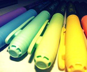 colour, pens, and vintage image
