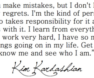 black and white, quote, and kim kardashian image