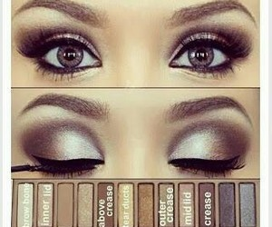 eyeshadow, makeup, and naked pallette image