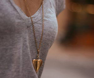 fashion, heart, and gold image
