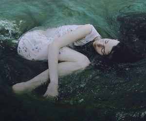 alone, drowning, and girl image