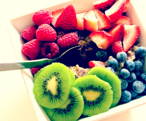 berries, healthy, and kiwi image