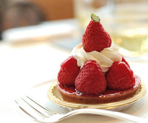 berries, cream, and delicious image