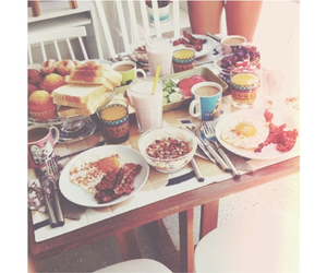 breakfast, morning, and delicious image