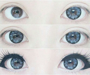 eyes, kawaii, and blue image