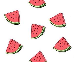 <3, watermelon, and deli image