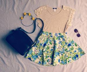 flowers, outfit, and pretty image