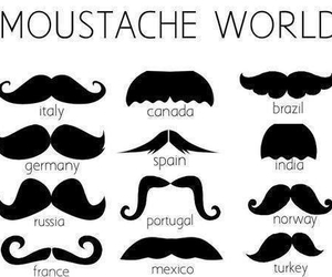 moustache, world, and mustache image
