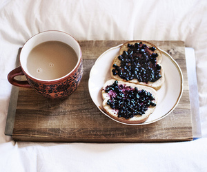 blueberry, milk, and breakfast image