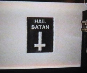 satan and black and white image