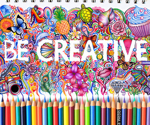 be, colorful, and creative image