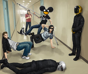 deadmau5, skrillex, and daft punk image