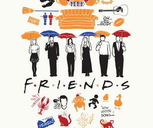 friends, chandler, and central perk image