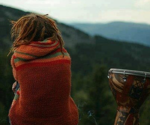 dreads, dreadlocks, and drums image