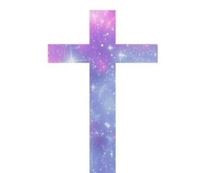 cross, galaxy, and overlay image