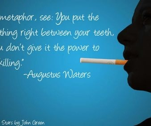 metaphor, augustus waters, and the fault in our stars image