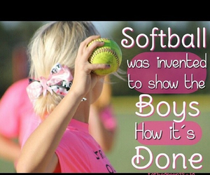 girls are better and softball is life image