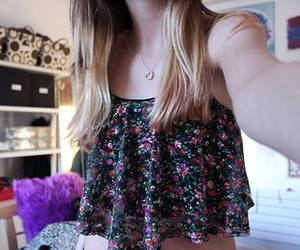 cropped, cute, and floral image