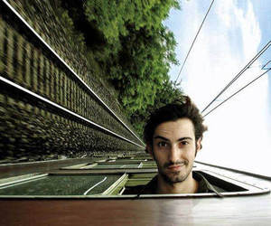 train and boy image