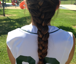 hair and softball image
