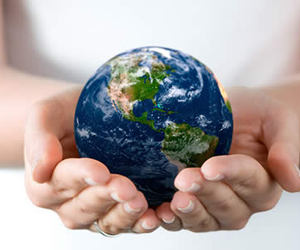 hands, earth, and world image