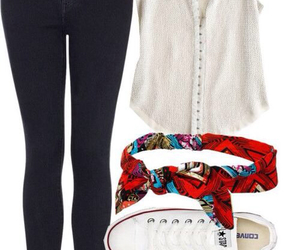 outfit, converse, and jeans image