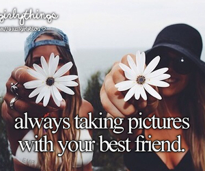 best friends, flowers, and picture image