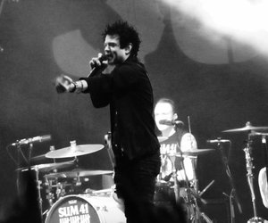 black and white, deryck whibley, and drums image