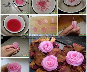 diy, candle, and rose image