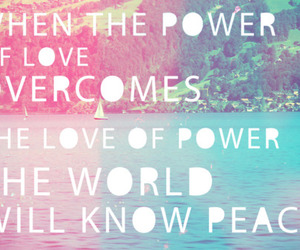 love, quote, and peace image