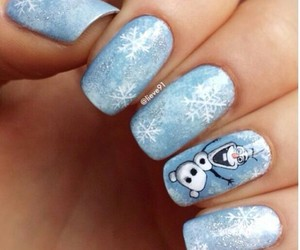 olaf, blue, and nails image