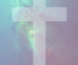 cross, galaxy, and hipster image