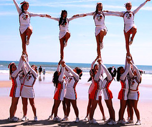 athletic, beach, and cheer image
