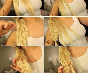 blonde, braid, and tutorial image